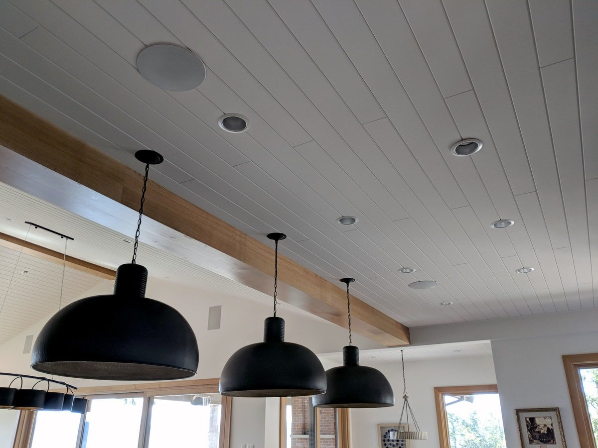 Recessed Speakers in Kitchen Ceiling