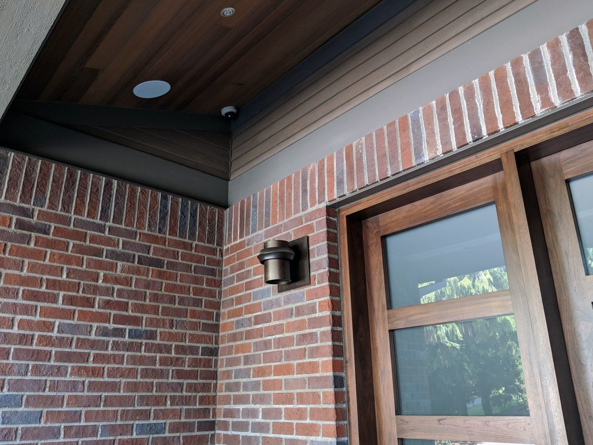 Recessed speakers and dome style cameras