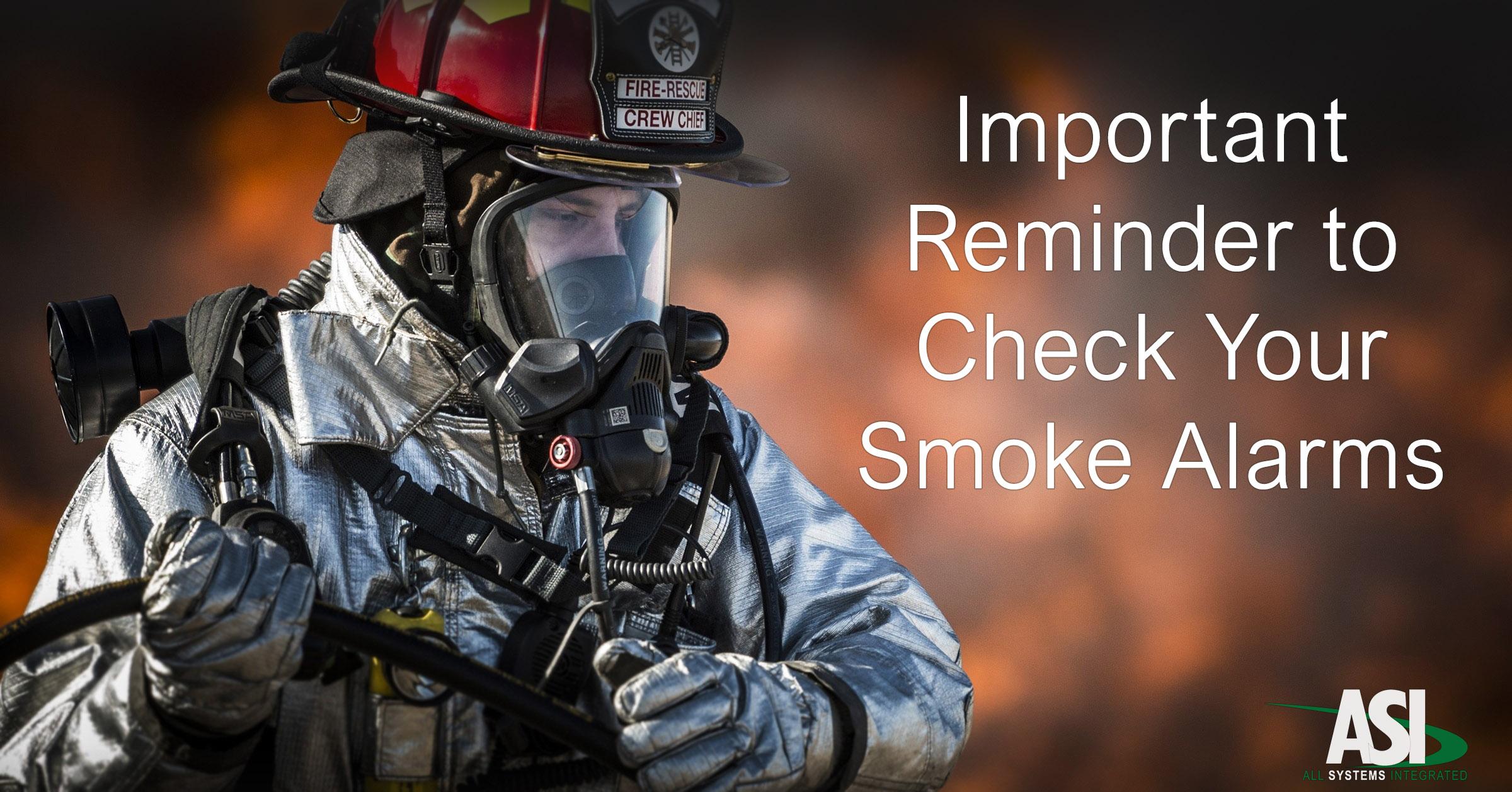 fireman smoke alarm safety